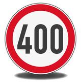 Nachbildung Verkehrszeichen - Höchstgeschwindigkeit 400 km/h