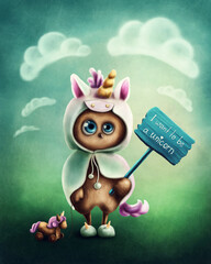 Funny little owl