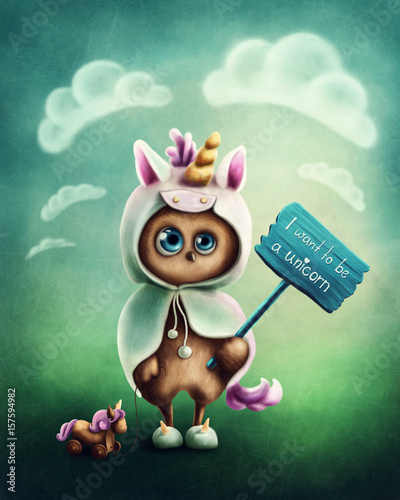 Funny little owl - 157594982