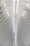 New York City, New York, USA - September, 10 2016: Santiago Calatrava's Oculus in Lower Manhattan. Fragment of the ceiling. - 157602505