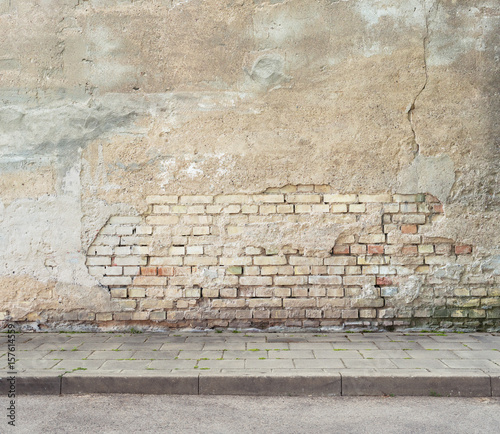 Foto op Canvas Graffiti Grunge wall background