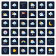 Weather forecast vector icons. Climate and meteo symbols