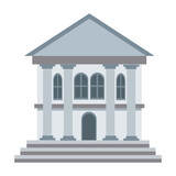 bank building business and finance construction of urban vector illustration - 157614766