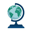 World globe isolated icon vector illustration graphic design