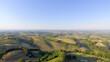 Beautiful aerial view of Tuscany Hills, Italy in spring