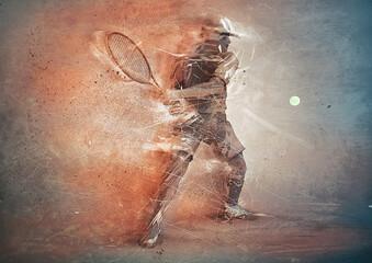 abstract tennis player © adimas