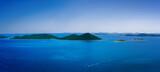 Amazing Kornati islands of Croatia. Northern part of Dalmatia. Sunny detail of seascape from Zadar to Sibenik. - 157660510