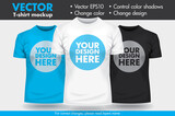 Fototapety Replace Design with your Design, Change Colors Mock-up T shirt Template
