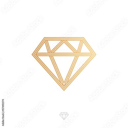 Geometryczny symbol diament, wektorowa ilustracja