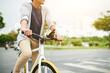 Enjoying cycling
