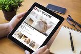 desktop tablet cats video streaming - 157808545