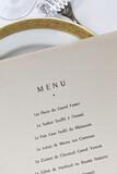 Menu details on a table set - 157835584