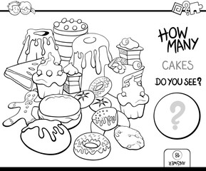counting cakes coloring page