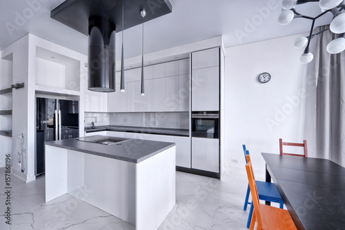 Interior design modern kitchen in the new house Poster