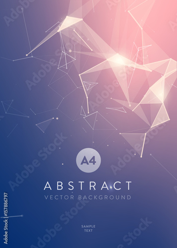 3D Abstract Mesh Background with Circles, Lines and triangular Shapes Design Layout for Your Business - 157886797
