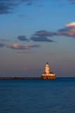 Chicago Harbor Light at sunset