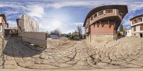 Poster 360 degrees panorama of the House-museum of Atanas Krastev in Plovdiv, Bulgaria