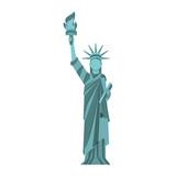 statue of liberty cartoon vector graphic design - 158002964