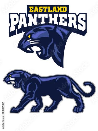 Fototapeta BLack Panther mascot