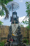 Typical traditional balinese hindu statue to protect the house