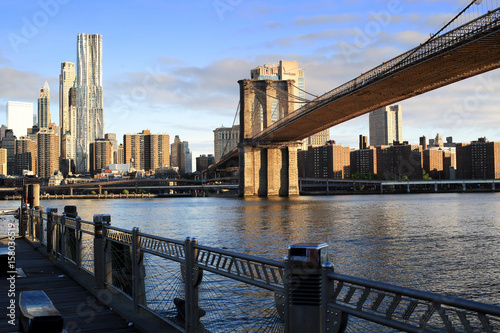 New York view of the Manhattan and Brooklyn bridge