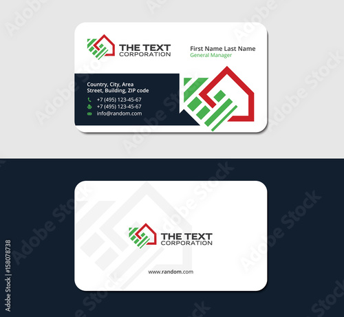 Business Card Template For Real Estate Investment Group