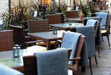 european restaurant - tables and chairs - 158087505