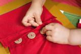 Tessuto abbottonato per bambini materiale - 158106347
