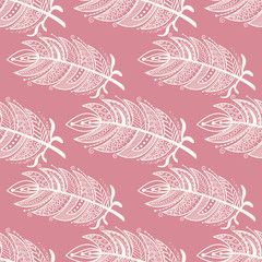 Ethnic feathers Seamless Pattern