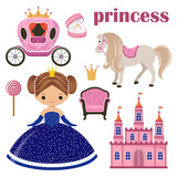 Little Princess, castle and carriage
