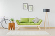 Green wooden sofa