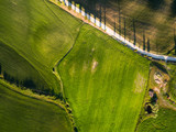 Aerial view from top view. tuscany. Italy