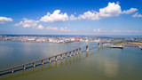 Photo aérienne du pont de Saint Nazaire, en Loire Atlantique, France - 158178778