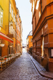 Narrow street in Gamla Stan, Stockholm, Sweden