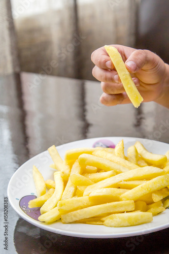 Poster French fries on a plate