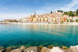 colorful houses in Menton on french riviera