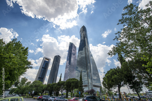 Four towers of Madrid Spain