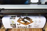 Large format printing on color plotter - 158213768