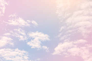 Sky with a pastel colored gradient