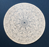 Ornamental flower mandala hand painted