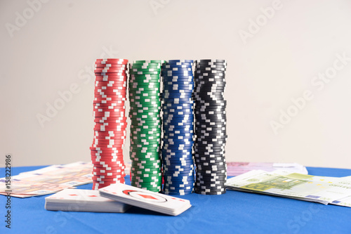 Pile of Casino Chips Poster