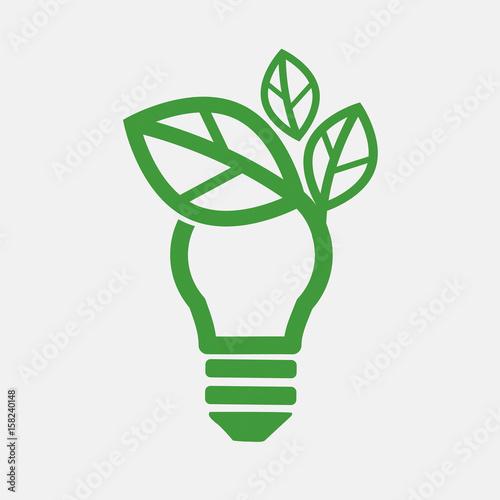 Green Concept Light Bulb Vector Illustration