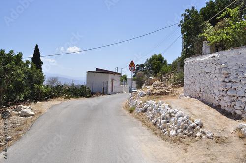 Rural road - Crete Island, Greece