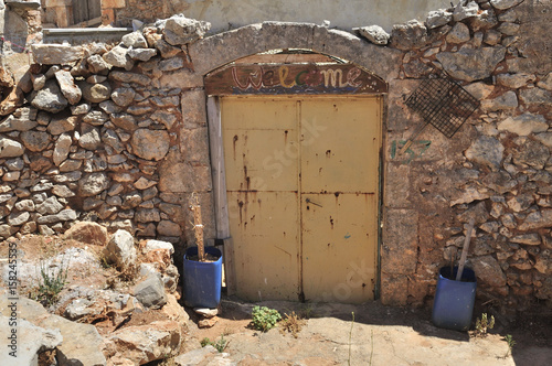 Entering to old, rural building - Crete Island, Greece