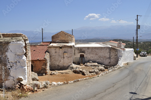 Ruins of rural buildings - Crete Island, Greece