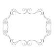 Ornamental frame. Outline decoration
