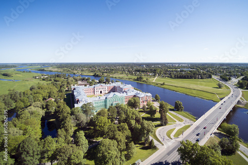Foto op Plexiglas Kiev Jelgava city aerial view, Latvia.