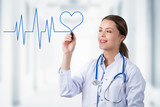 Heart Line and Smiling Doctor - 158272553