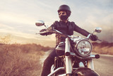 Retro Motocykl Jeździec