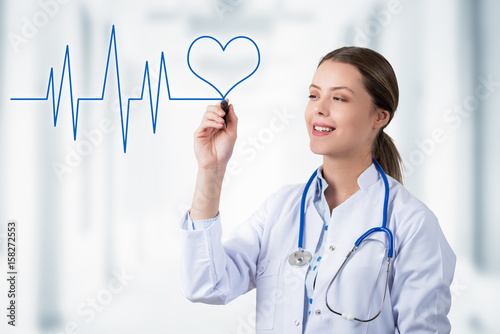 Foto Murales Heart Line and Smiling Doctor